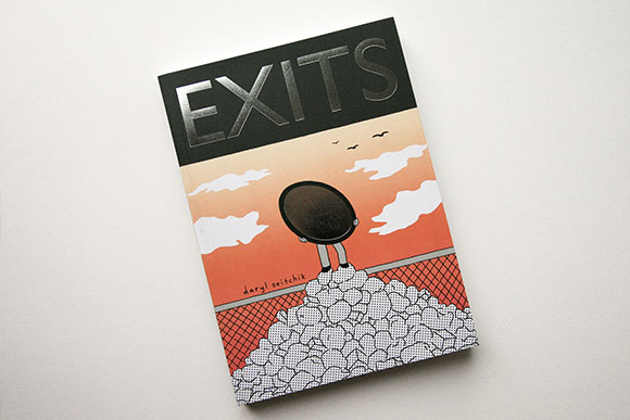 EXITS - ExitsBy Daryl SeitchikClaire Kim hates herself and the world she lives in. Working at a mirror store, she shows customers their reflections and daydreams about erasing her own. One night, on her way home, she gets her wish. Follow Claire as she wanders invisibly through the city and her own psyche.Daryl Seitchik was born in 1989 and currently lives and works in Philadelphia, PA. She is best known for her semi-autobiographical comic series, Missy, which earned her a nomination for the Ignatz Award for Promising New Talent in 2014. She is nocturnal.ISBN: 978-1-927668-34-4$15.006½ x 9, 220 pages, b&w, trade paperSeptember 2016