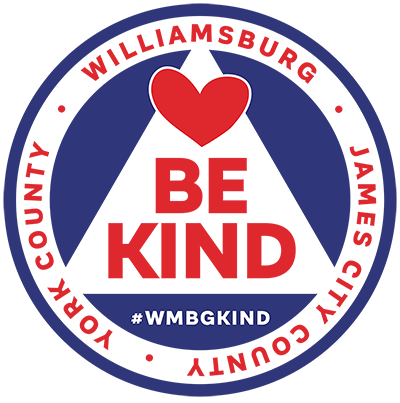 City of Kindness in Williamsburg Virginia; WMBGkind