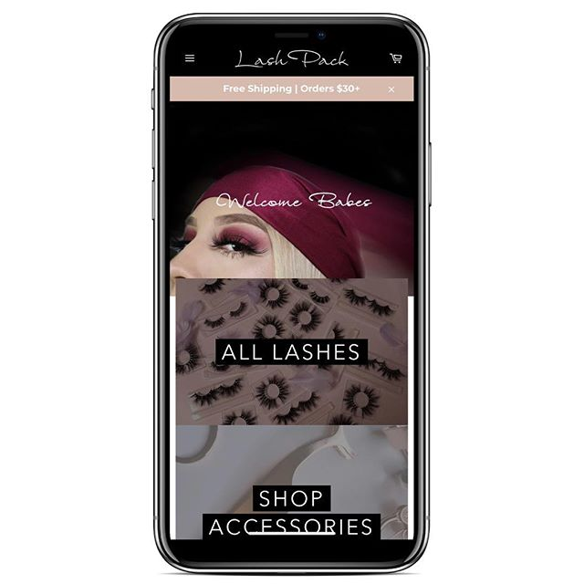 Simple, chic, and easy to use. Our amazing client @lashpack is now live. We worked hand-in-hand with Lash Pack to create the perfect mobile-first experience, and the perfect logo that represents their brand. We wish Lash Pack a ton of success and we will be by their side to support when needed. Go show them some love! 🐝 #ShopifyDesign #ShopifyPartners #BizzyBeeNY