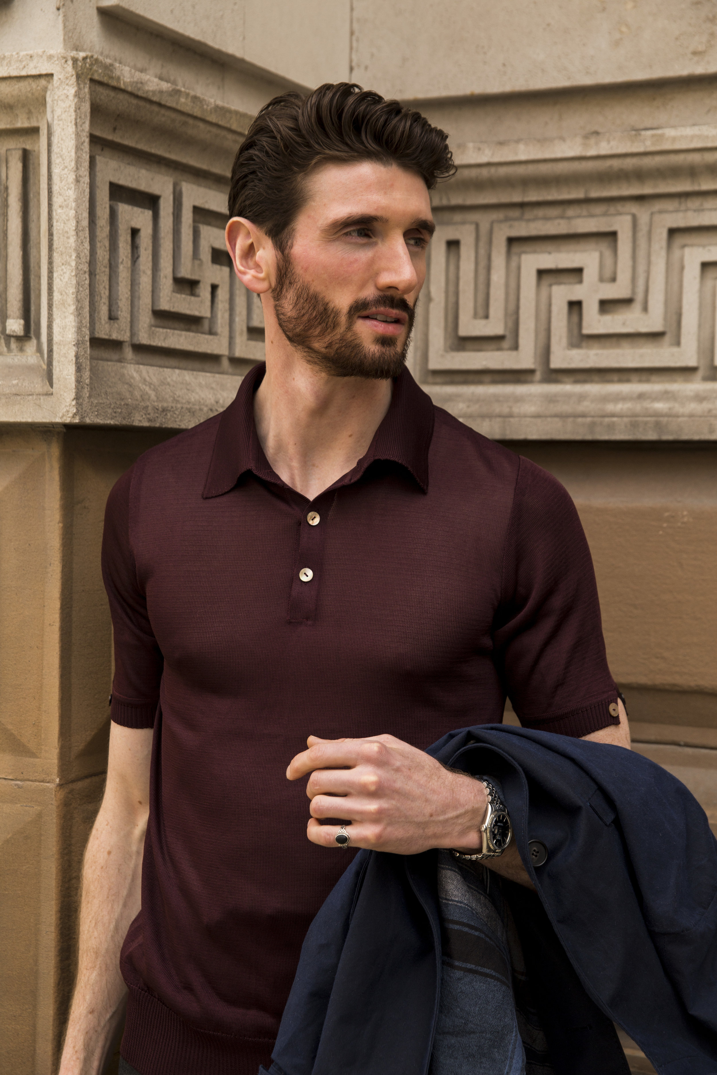 Knitted Polo Shirt - 100% Japanese Serie