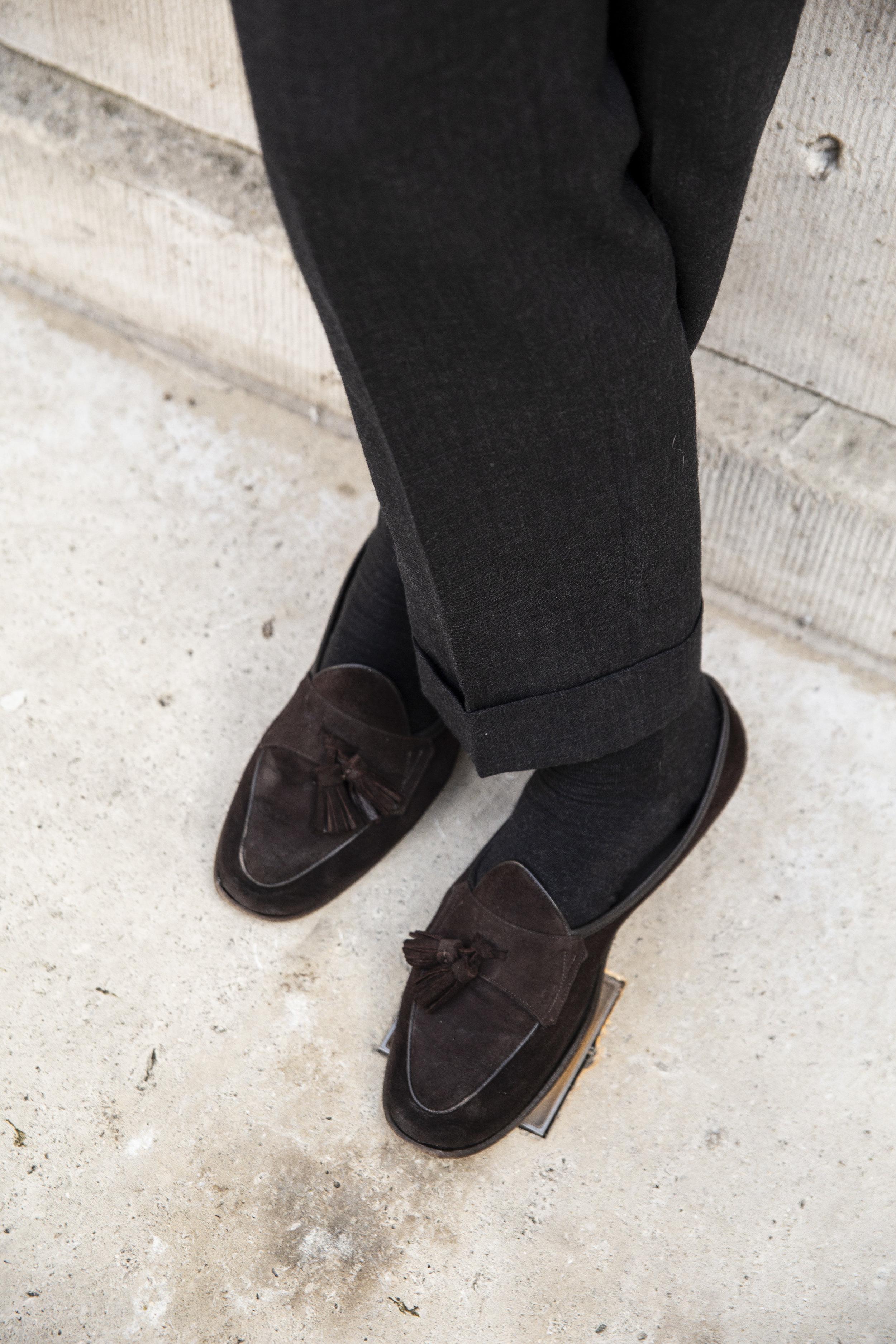 Grosvenor Trouser - bespoke 60% Wool 40% Mohair Grey