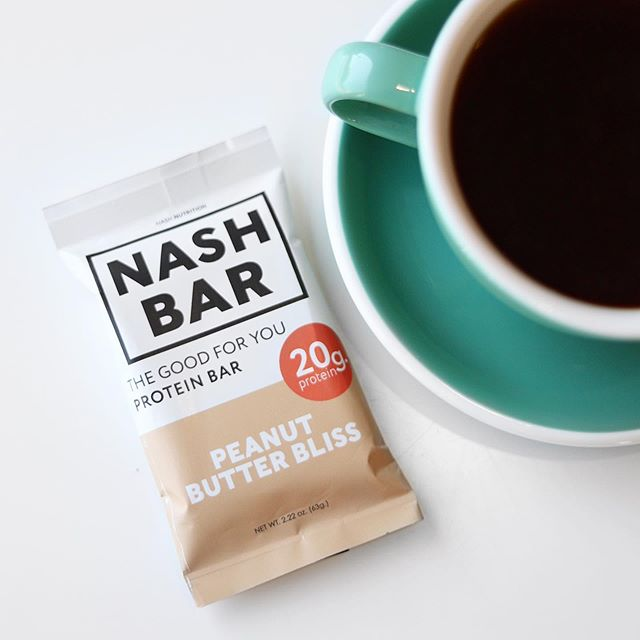 There's no better way to start the day than with 20 grams of protein and a warm cup of coffee 🍂☕️ #mynashbar : @culturehousecoffeeco