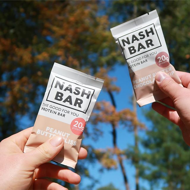 Fall is in the air, and so is #mynashbar 🍁  Order online through the link in our bio | nashnutrition.co | the good for you protein bar