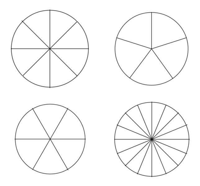 circle division (4,5,6 and 16 fold) - download pdf tutorial