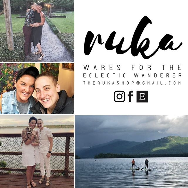 "⭐️ #THURSDAYTAKEOVER is tomorrow and we can't wait for you to meet the makers of The Ruka Shop! ⭐️⁣ ⁣ Meet Sarah & Jacqui! ⁣ ⁣ ""Ruka all started in 2015, in Rock Island, Illinois, with an intention to do something different.  Create well made product that was fun, cute, and sometimes a little quirky - just like the folks that would wear and use them.  With a serious passion for color, texture, pattern and travel, I (Sarah) combined all my loves into Ruka - Wares for the Eclectic Wanderer. ...two years in, I needed a break.  Life is chaotic, and sometimes in the madness of that chaos, our true passions get muddled and confused.  I stopped creating and went back to the corporate retail world.⁣ ⁣ One year after a promotion landed me in Des Moines, Iowa, I met Jacqui - she's the piece that turned my former Ruka one woman show into an epic adventure of a lifetime.  I left retail again, and uncovered all the the amazing things I'd been missing from Ruka.  We chose a life of mobility (follow our vanlife story on IG - it's pretty cool!) and travel the country doing shows, markets, pop ups and wholesale partnerships with brick and mortar stores to help people Find Their Ruka.  From Austin to Minneapolis, Boston to Pasadena, and everywhere in between, we create Ruka goods while inspiration from the beauty of the great outdoors + human connections unfold along the way. ⁣ ⁣ Customs, new goods patterns, fabric design, and leather-working; Ruka is all about the one of a kind - You.  Follow along through the blog or our instagram⁣ ⁣ Thanks for being a part of our story."" - S & J ⁣ ⁣ Tune in tomorrow! All the love -Ciara & Kari 🖤💜⁣ #createyourinnercircle"