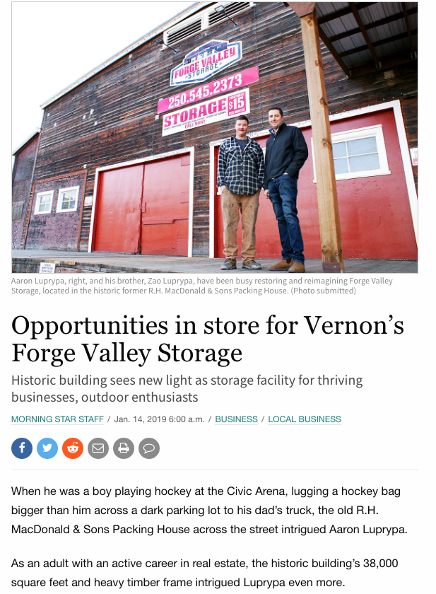 In this article about Forge Valley Storage, rather than submit a dull fact-laden press release, a copywriter at Read Head Copywriting told a story with a number of interesting angles.
