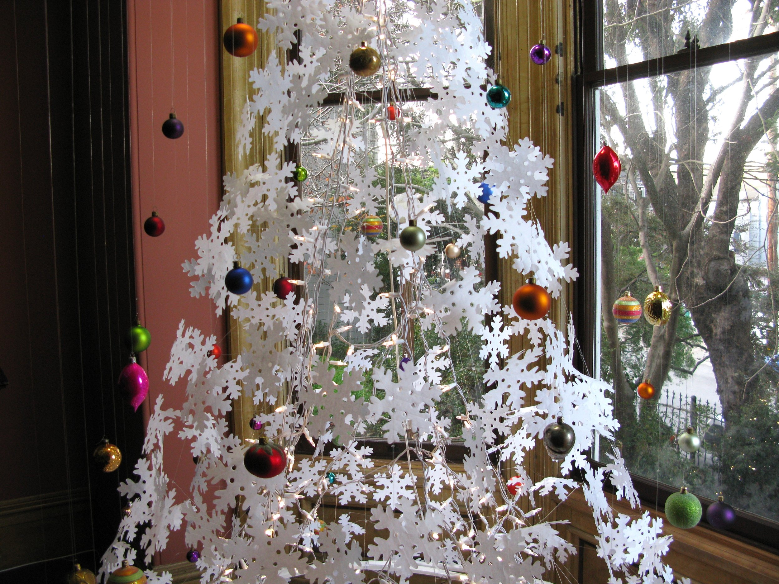 Ornament suspension close-up