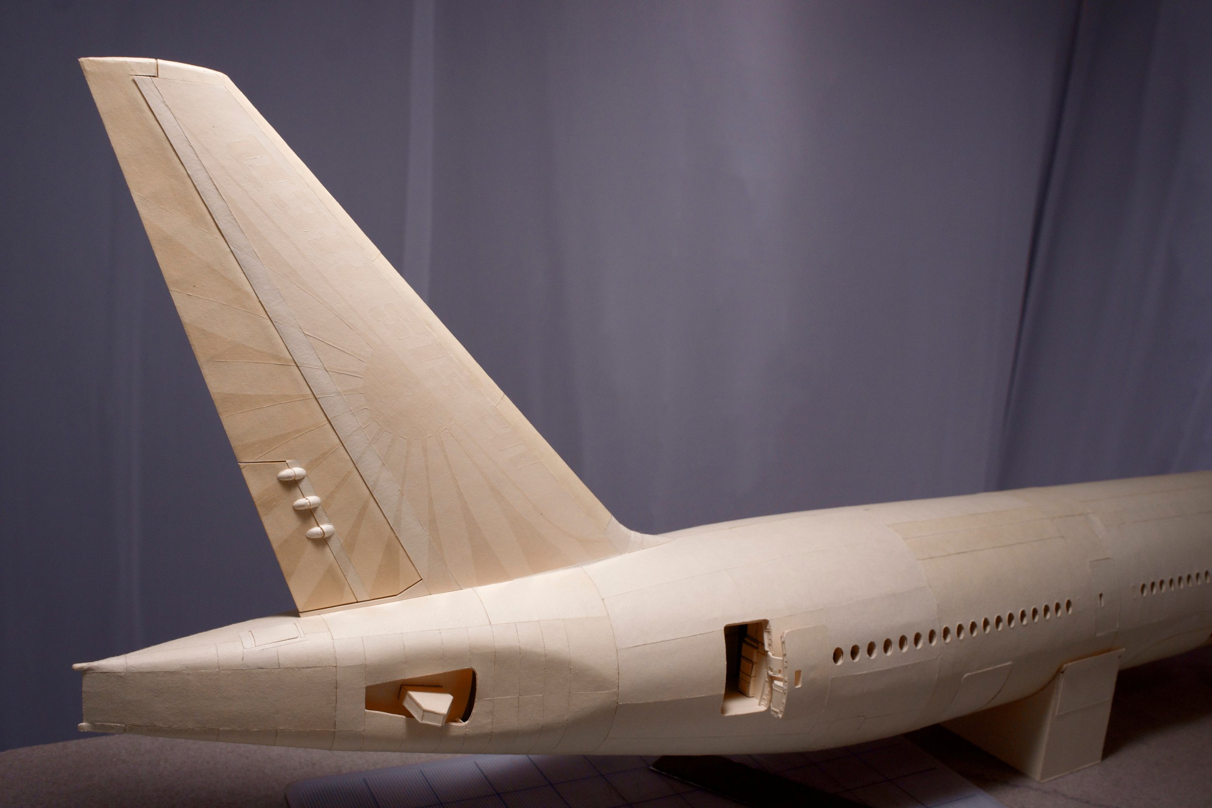 The completed tail fin