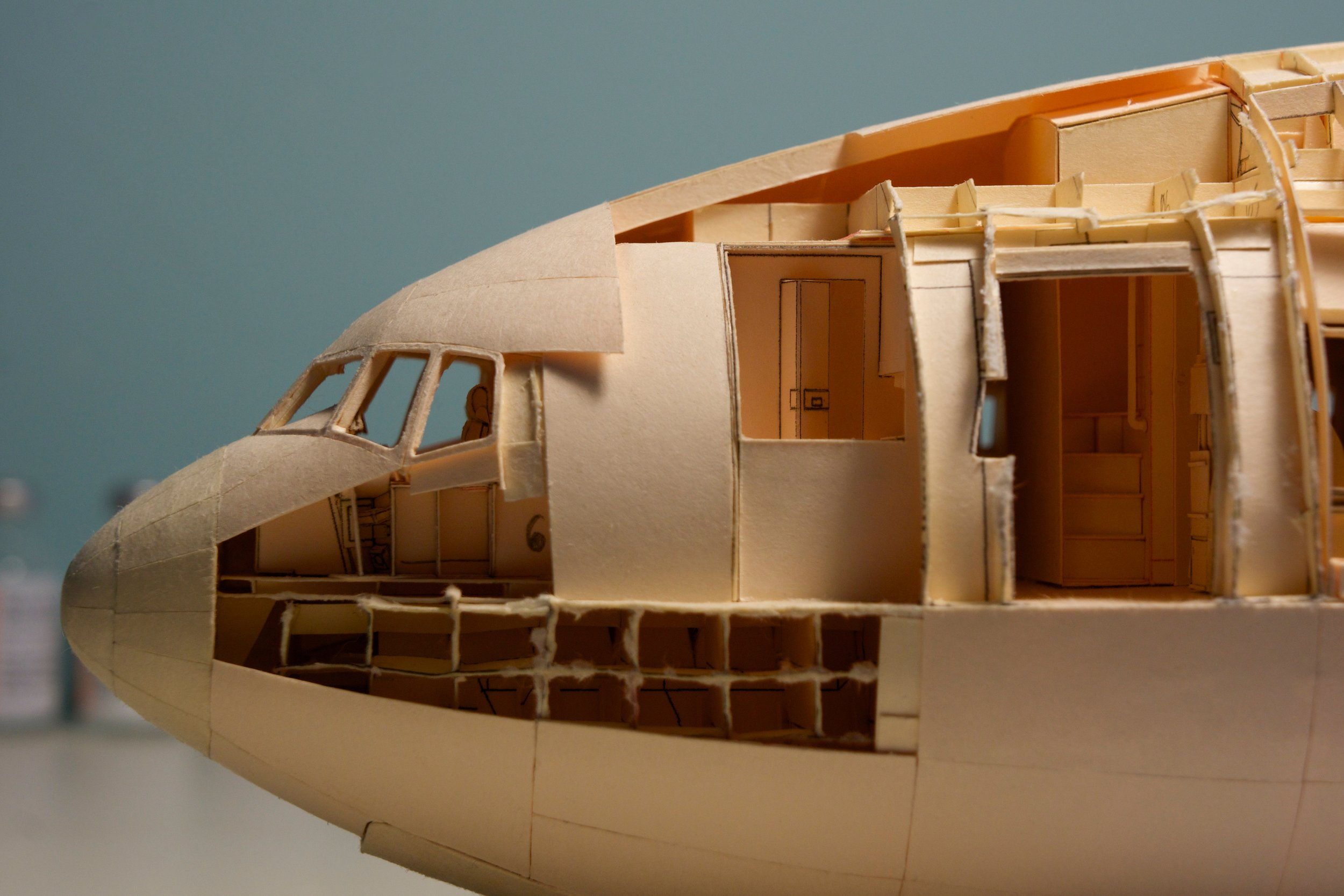 A look into the various cabin features in the nose section