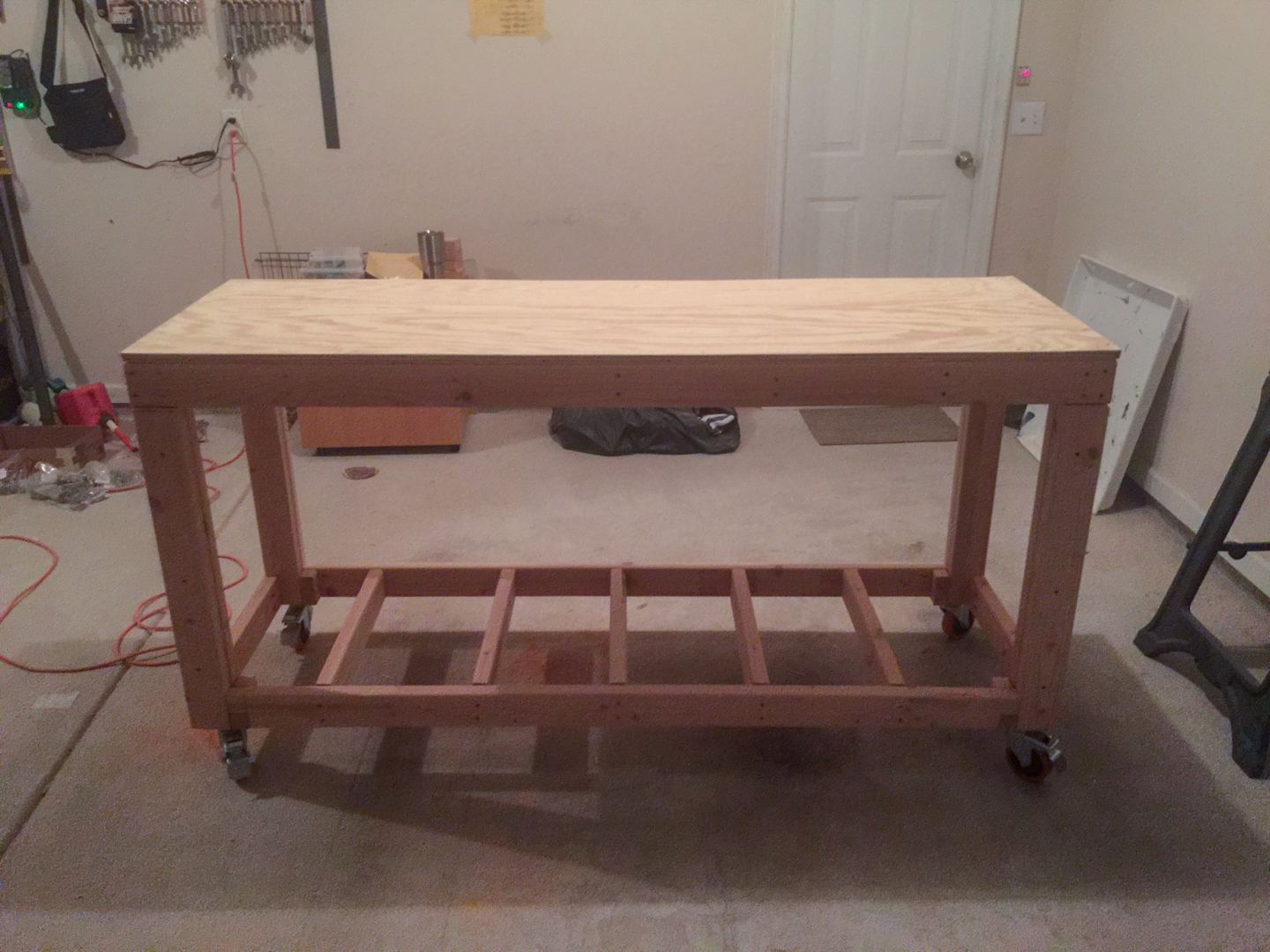 First Workbench - Top Ply Installed