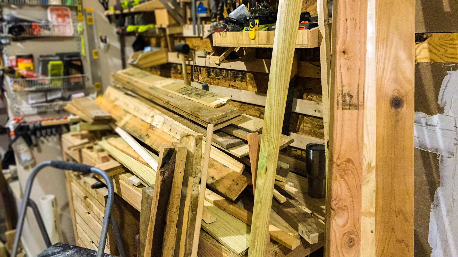 Lumber Cart - Old Workbench Clutter