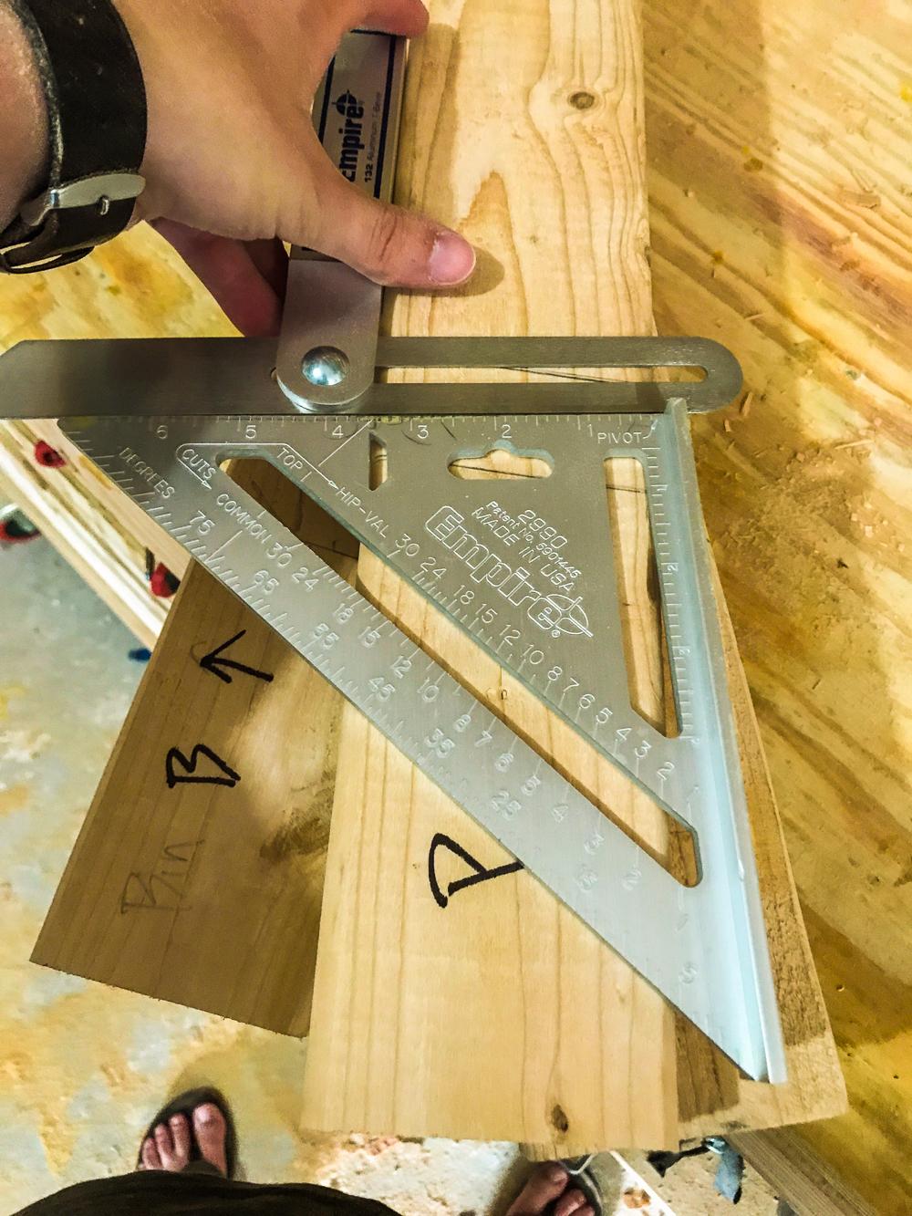 Lumber Cart - Setting Leg Angle