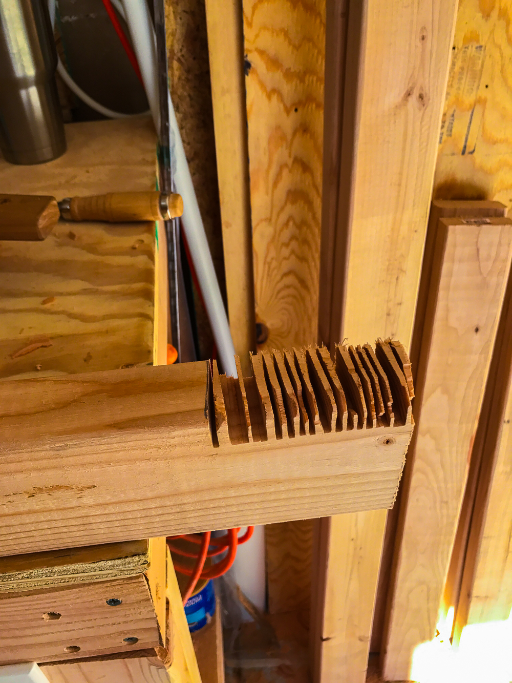Lumber Cart - Cutting Tenons with Circular Saw