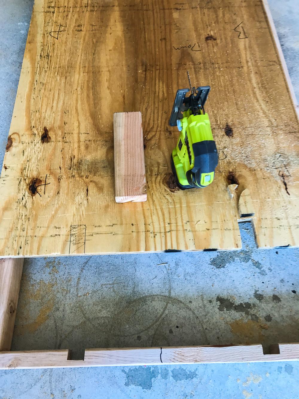 Lumber Cart - Notching Out Vertical Slots