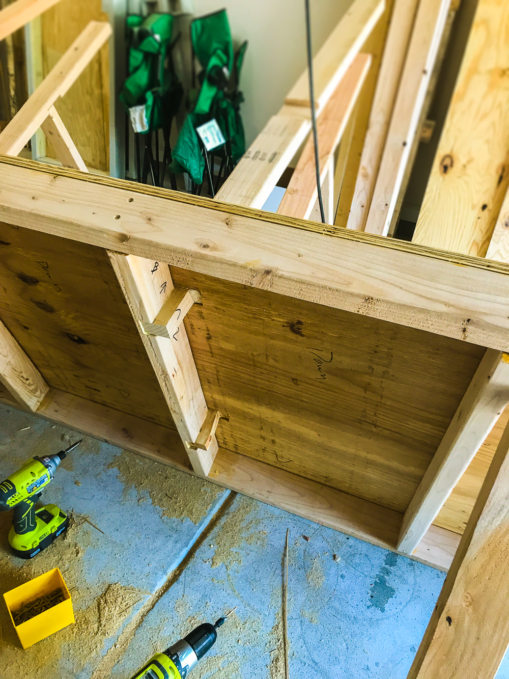 Lumber Cart - All Verticals Set in Place for Glue