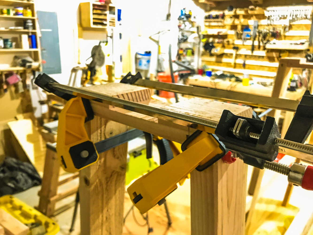 Lumber Cart - Upper Brace With Clamps