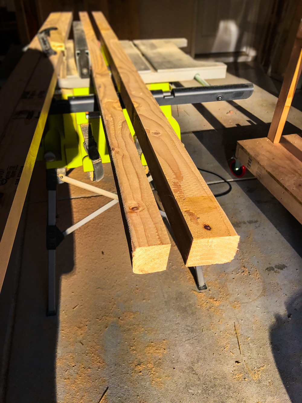 Lumber Cart - Cutting 2x2 with Angle