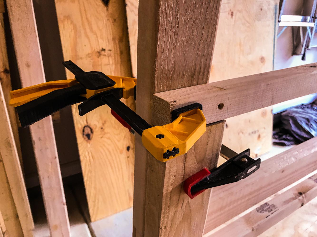 Lumber Cart - Shelf Cleat Clamp