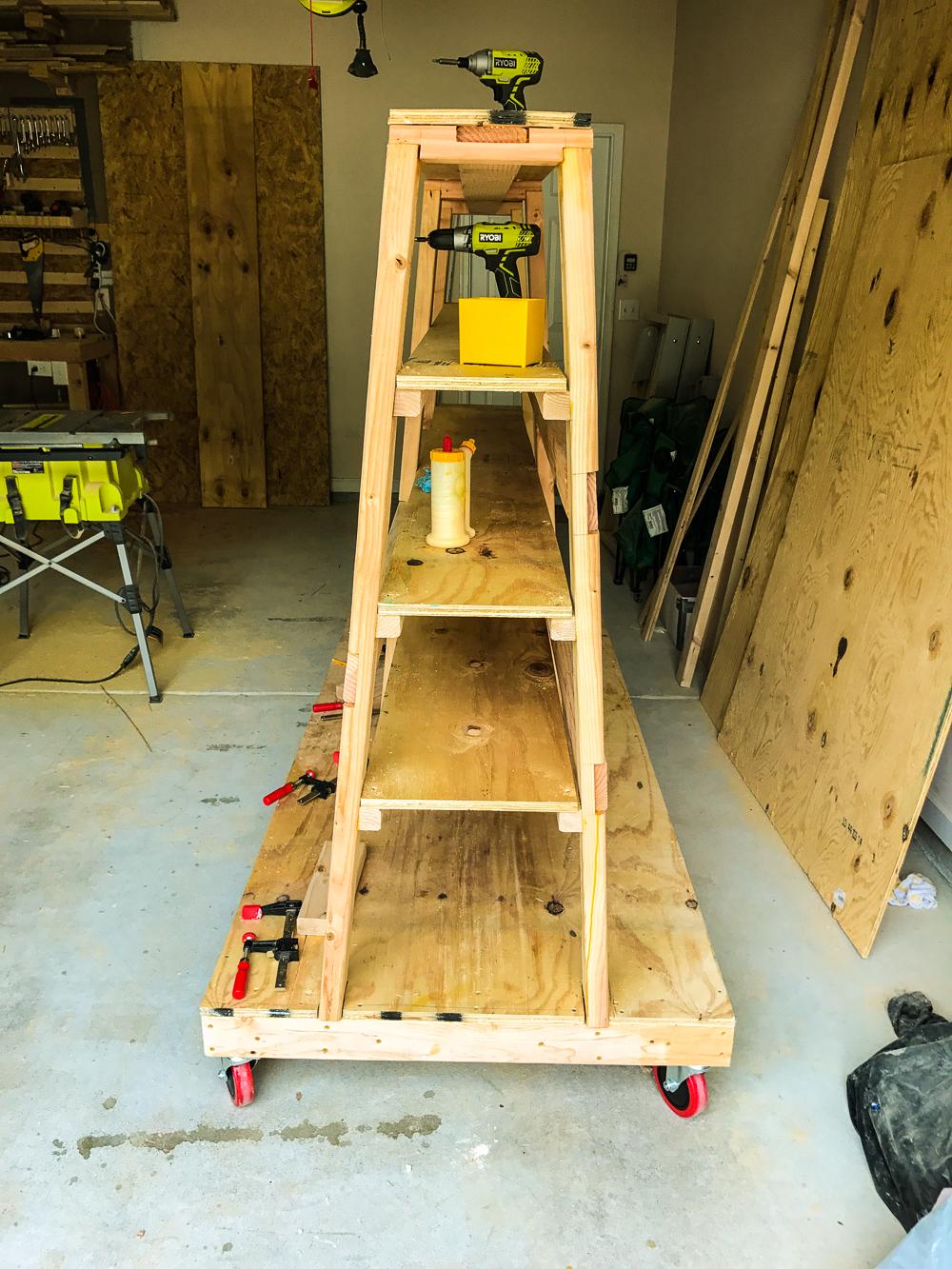 Lumber Cart - Installing Shelves