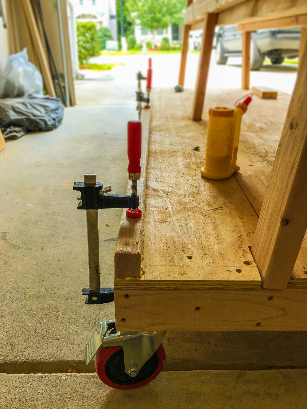 Lumber Cart - Clamping Bottom Cleat