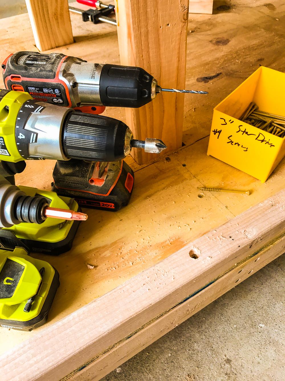 Lumber Cart - Drill Set Up