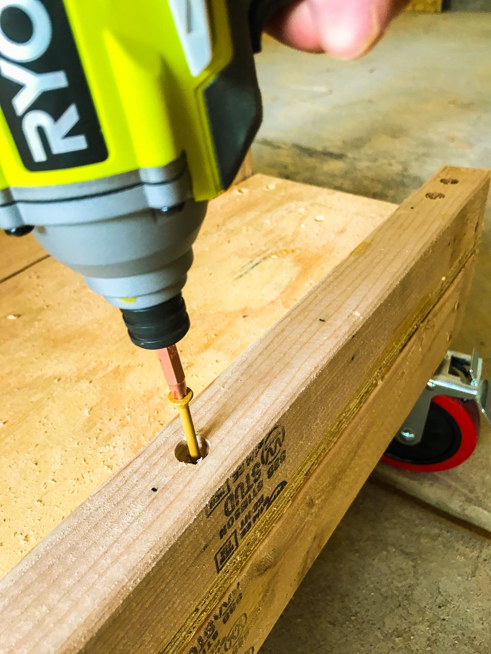 Lumber Cart - Driving Cleat Screws