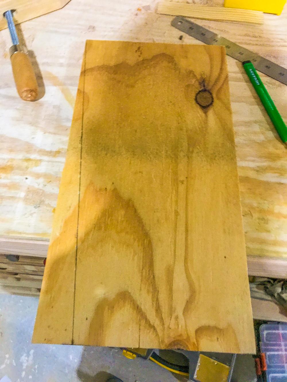 Lumber Cart - Bin Angle marked
