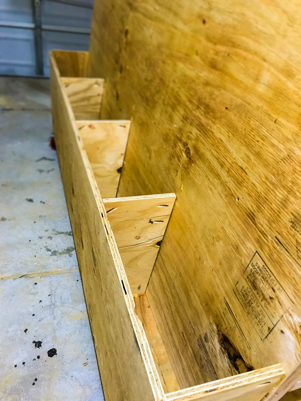 Lumber Cart - Bins Installed