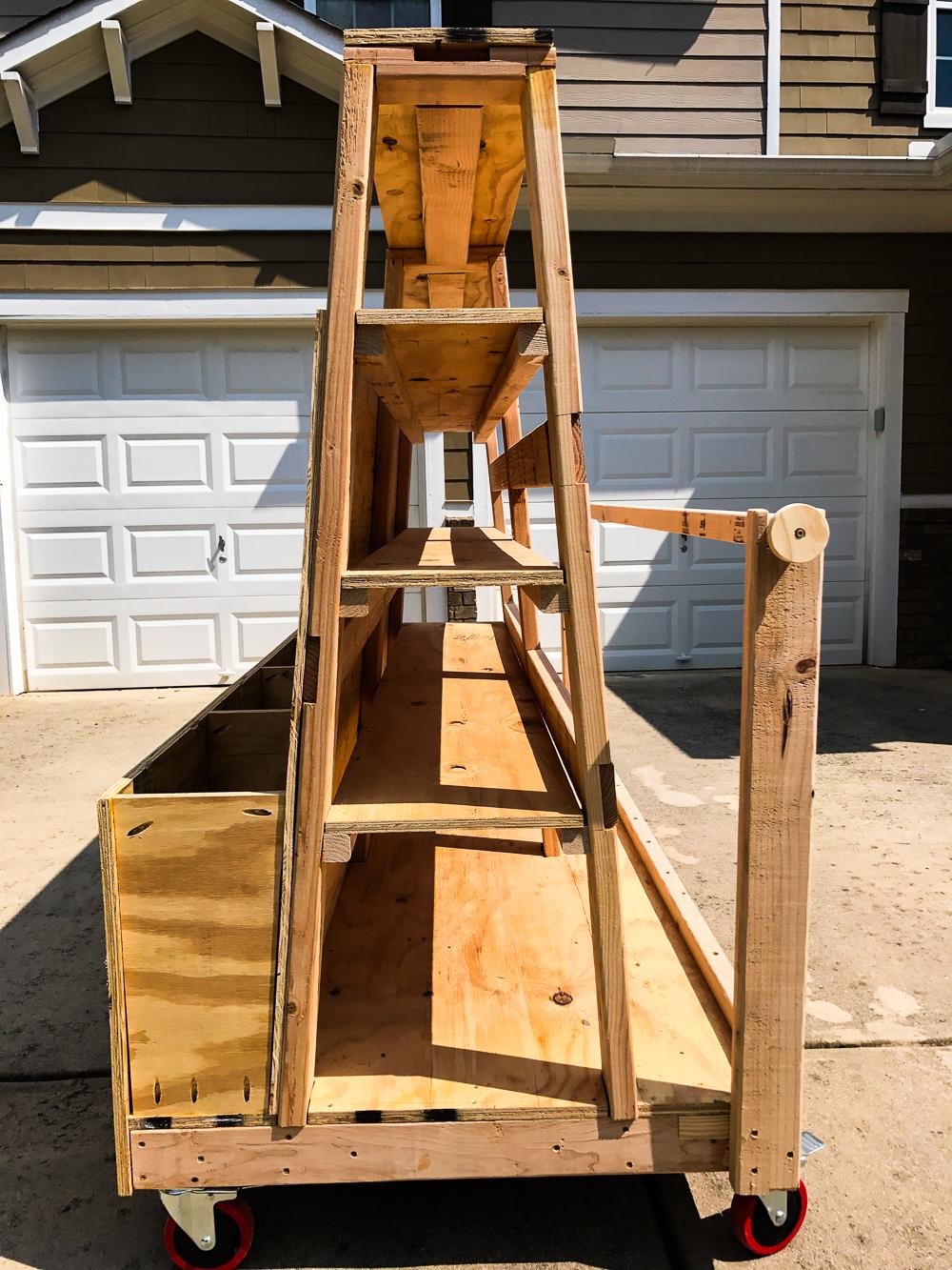 Lumber Cart - Shelf Full Finished
