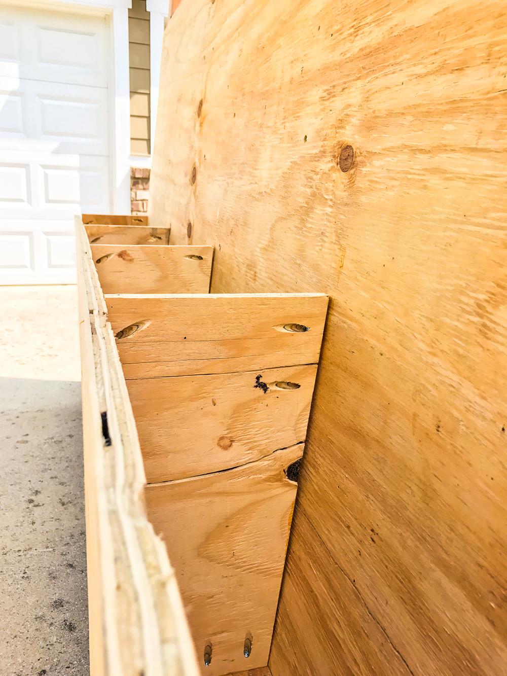 Lumber Cart - Bin Close Up