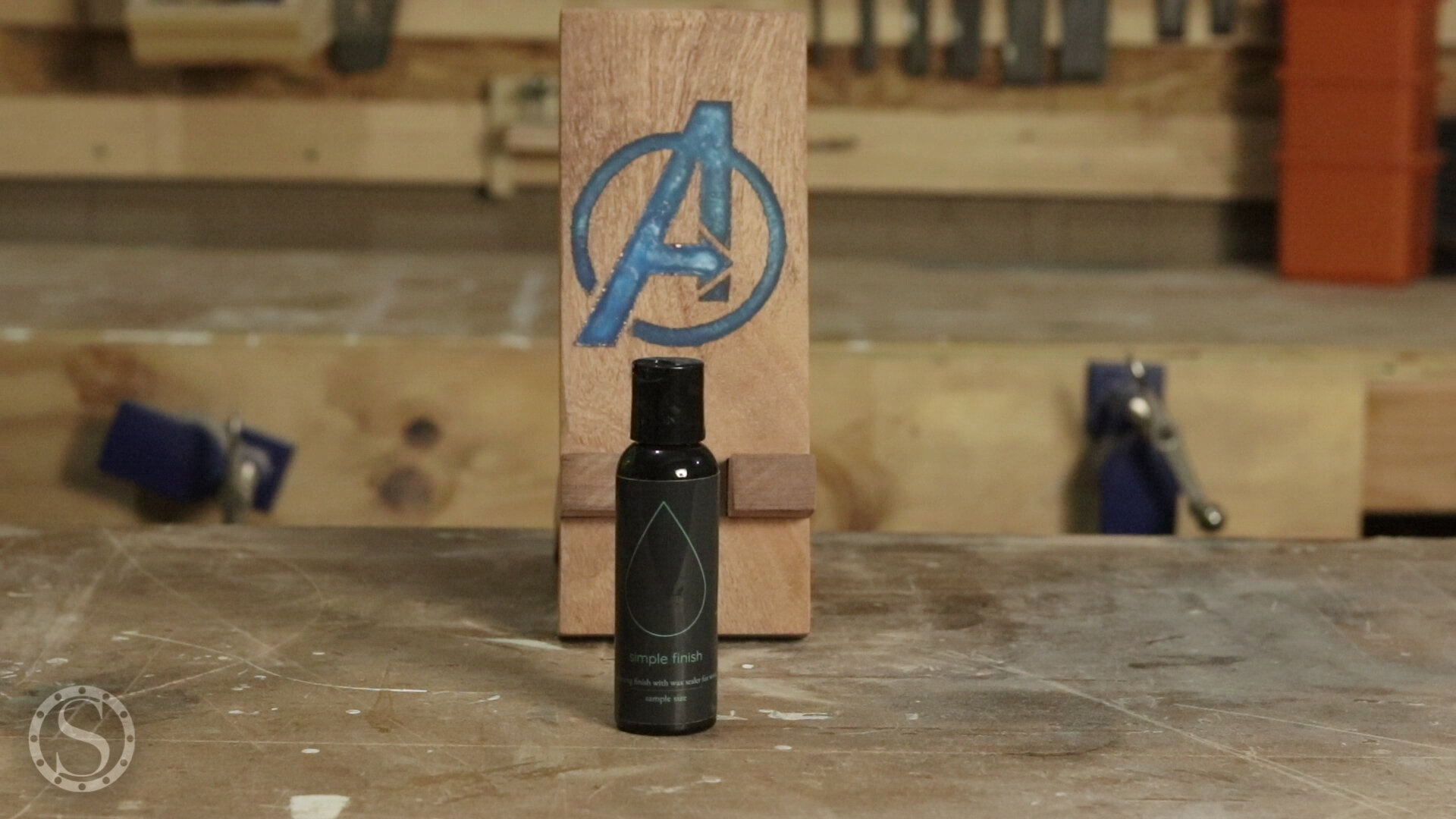 Avengers Phone Holder - Maker Brand Co Simple Finish with Wax for the finish