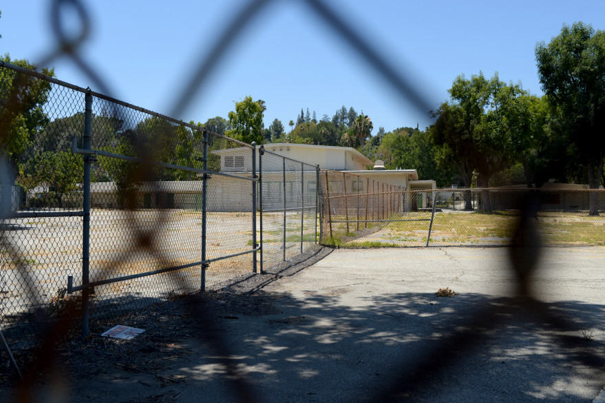 An abandoned school in Los Angeles County. (David Crane/Southern California News Group.)