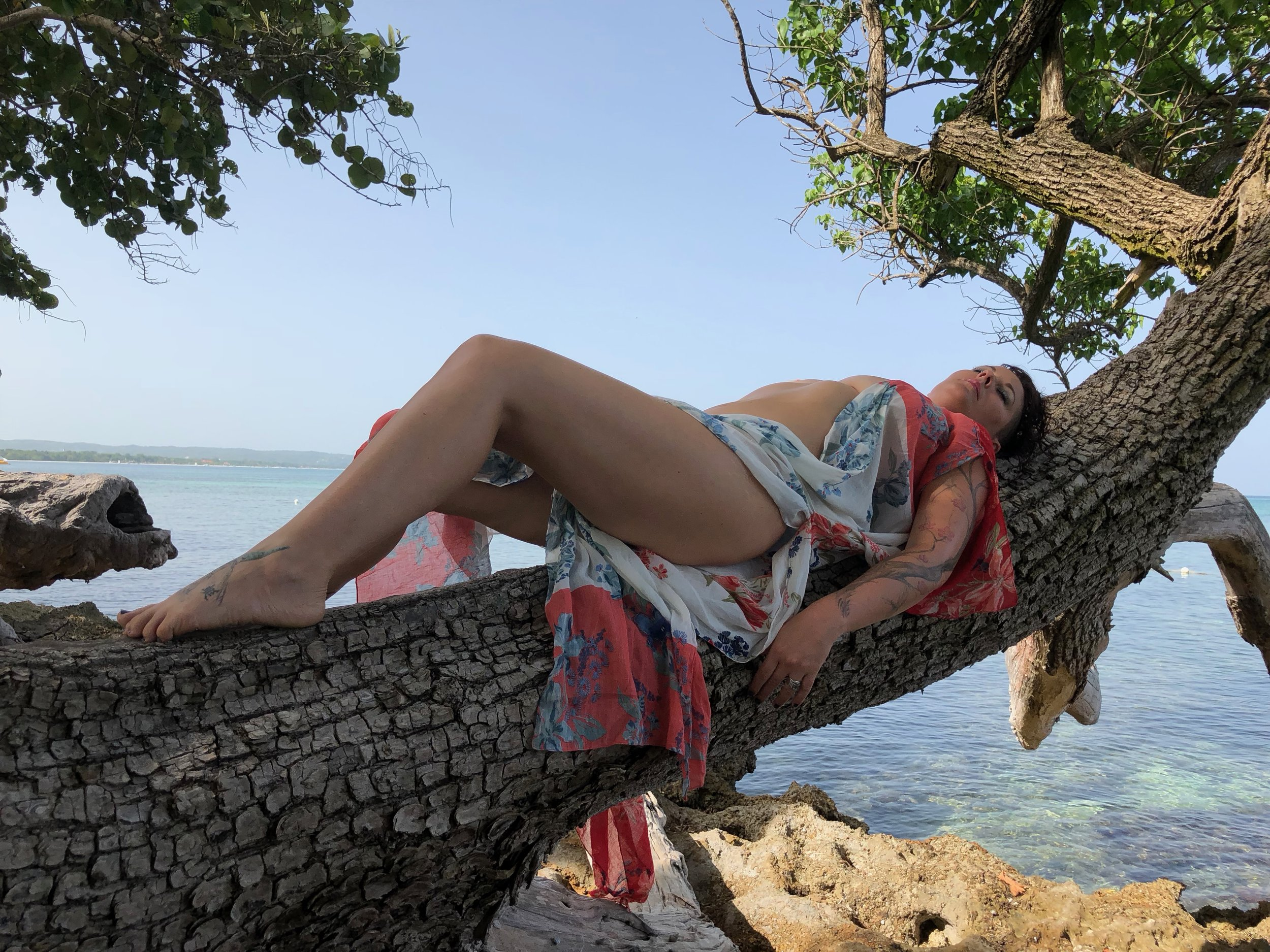 Allowing the orgasmic energy of mother nature to pulse through me in Jamaica.  Photo: Pure Orgasmic Love