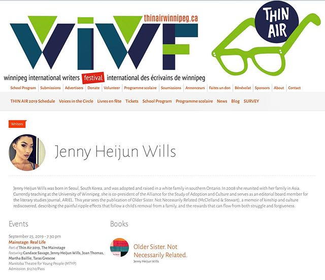 September 25 @wpgthinair #winnipeg #hometown #memoir 💛💛
