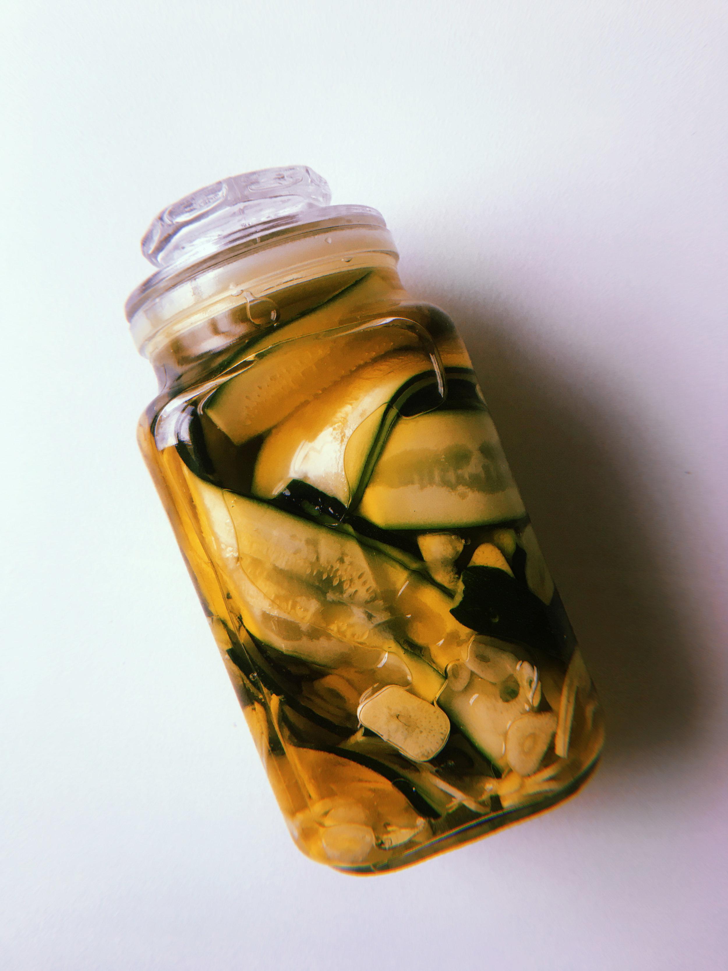 - Aged Zucchini with garlic