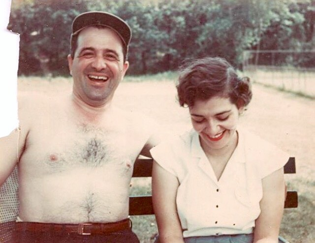 My Italian Grandma and Grandpa, circa 1950.
