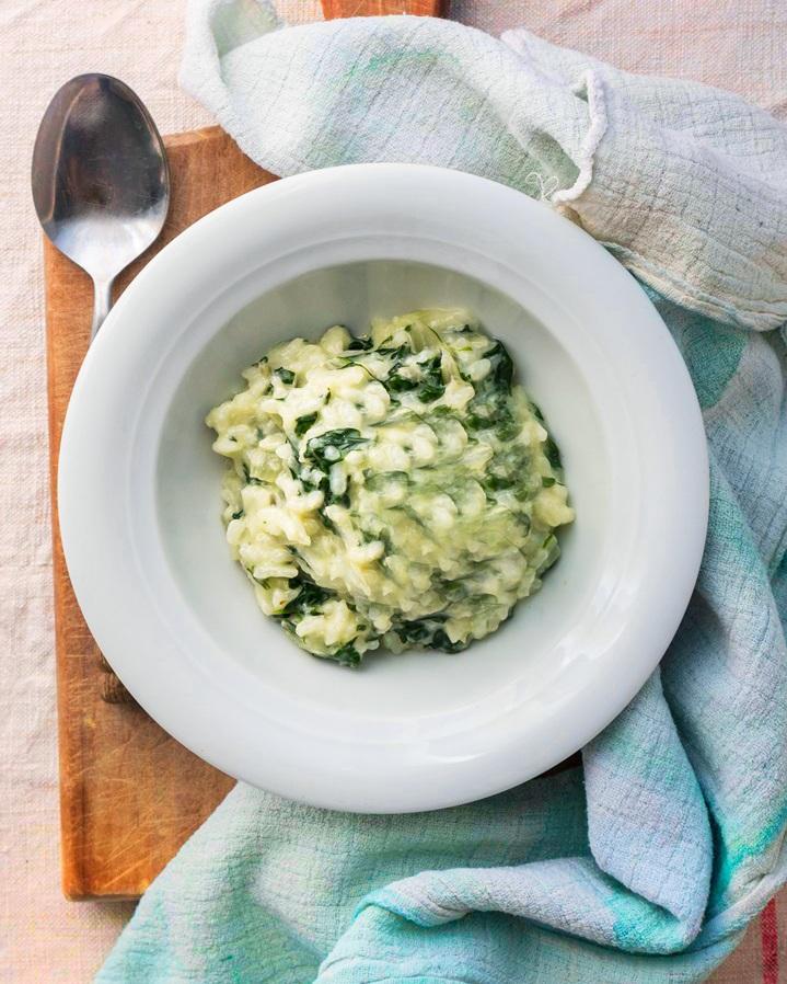 - Creamy Parmesan Swiss Chard Risotto