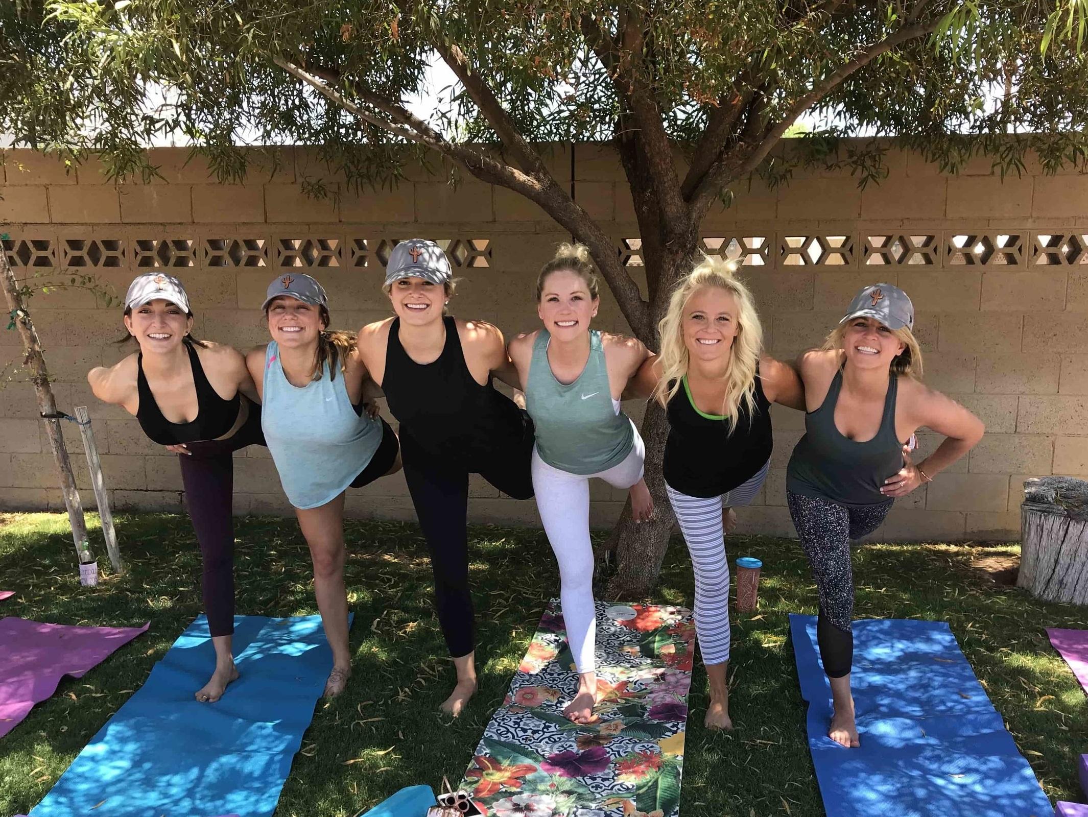 private yoga classes for bachelorette parties in Scottsdale, AZ