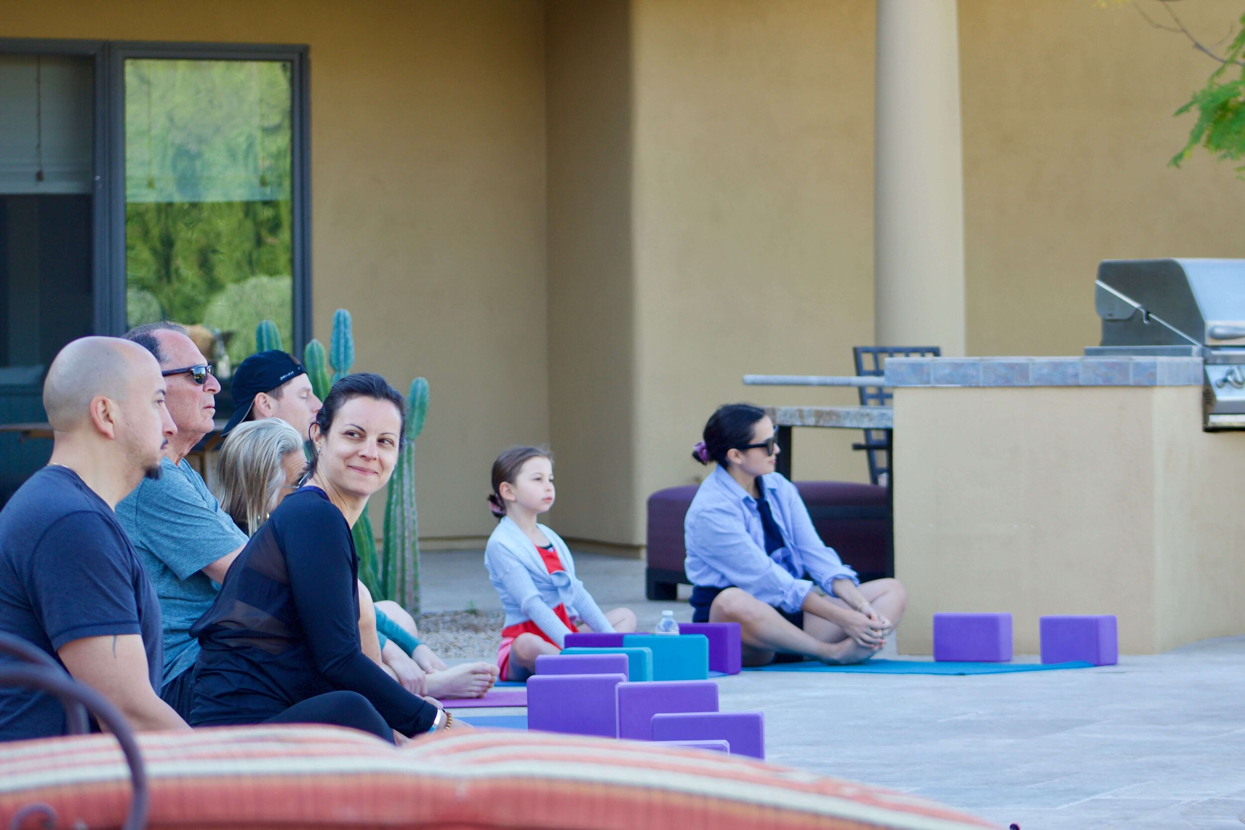 group yoga for families