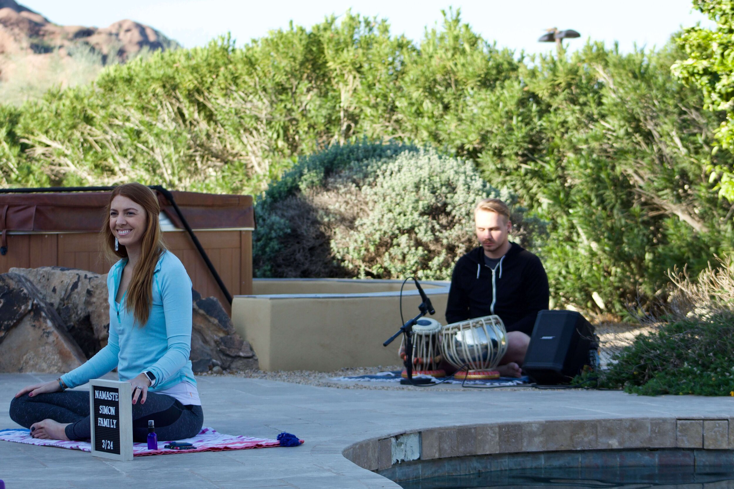 yoga and live music class