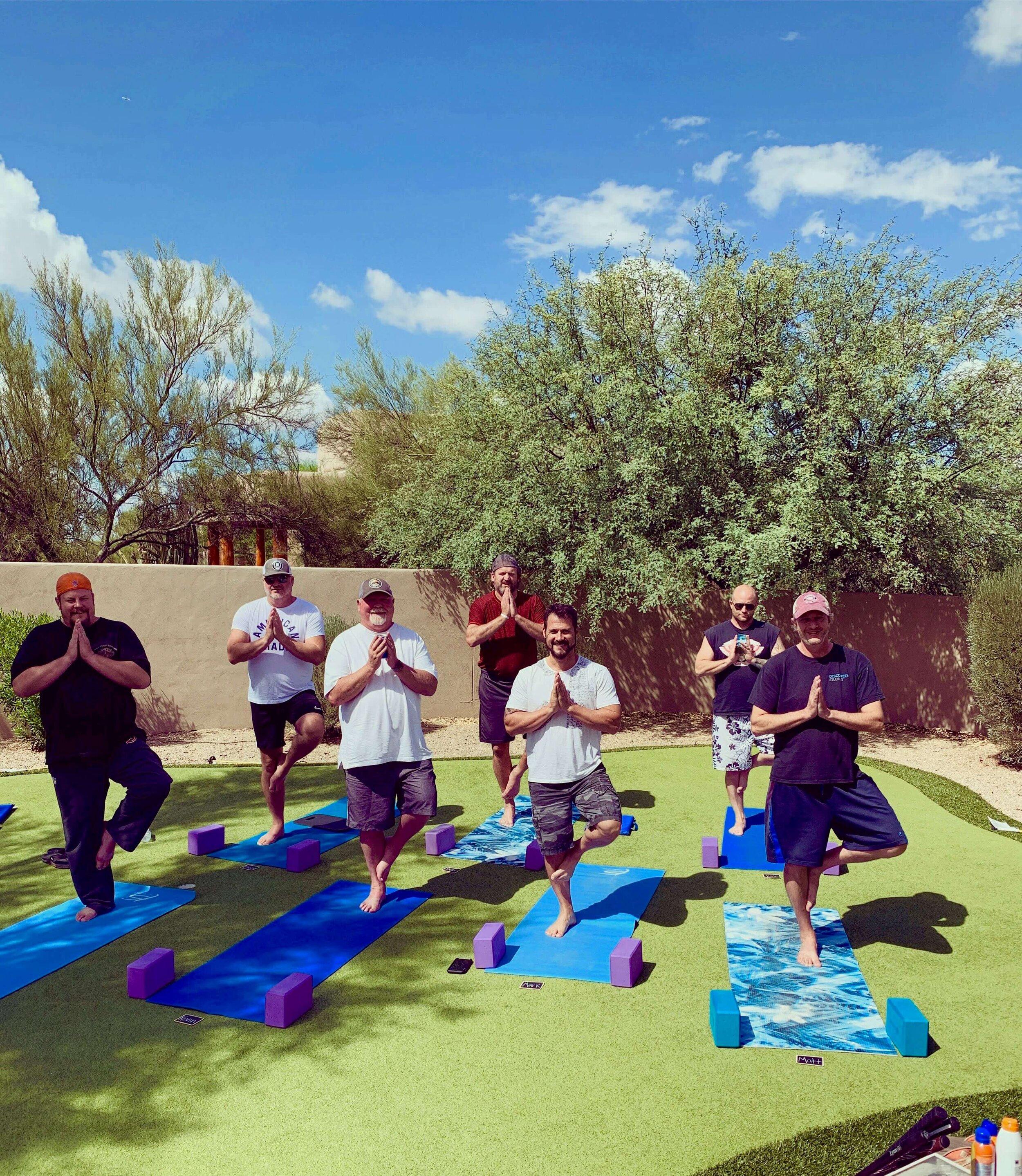 guys trip yoga class