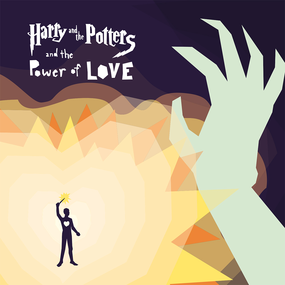 "Harry and the Potters and the Power of Love - released July 4, 2006Harry and the Potters and the Power of Love, our 3rd full length, was recorded between February and June of 2006, mostly in a house in Cambridge, MA, but also, partially, in our old high school basement, our parent's living room, and at our old piano teacher's house. A whole of of awesome people helped out, especially Kevin (recording), Ernie (drums), Brian (bass), Juliette (cello), Jeanie (violin), Dan (mastering) and Georg (artwork). This album is, without a doubt, our best yet. Did we mention this album has strings? And tubular bells? Victory Strikes Again!credits------------------------------------------------------------------------------- Harry and the Potters are Paul and Joe DeGeorge ------------------------------------------------------------------------------- Also appearing on the ""Power of Love"" Ernie Kim - drums, gang vox Brian Church - bass Juliet Nelson - cello on tracks 13 and 14 Jeanie Lee - violin on tracks 13 and 14 Kevin Micka - sick guitar shredding on track 1 Sean McCarthy - guitar feedback Catherine DeGeorge - whistling on track 12 Devin King, Mike Gintz, Farhad Ebrahimi, Steev Mike - gang vocals on track 1 Recorded at April Fog in Cambridge, MA by Kevin Micka. Art by Georg Pedersen."