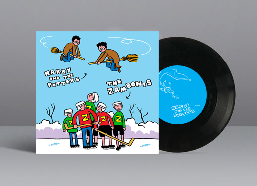 "Split 7"" w/The Zambonis - released April 7, 2015A split 7"
