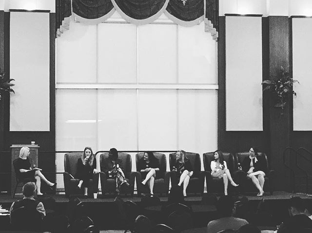 """Equity can't happen without intentionality."" - Chelsey Branham We have to be intentional in who we're bringing to the table. Loving this #RunLeadPersist panel at #ignitingsparks18! #womenleadoklahoma"
