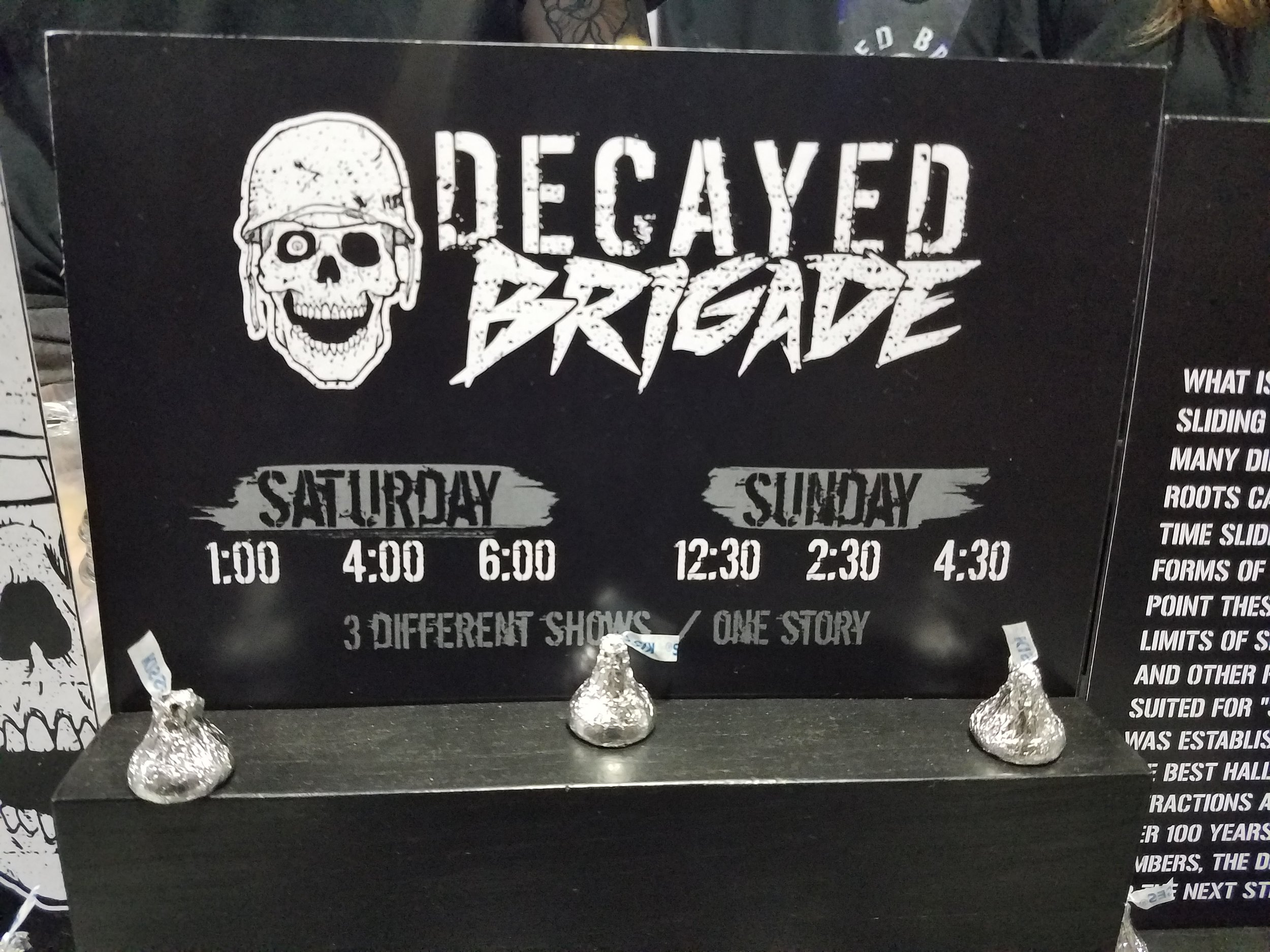 Decayed Brigade Showtimes