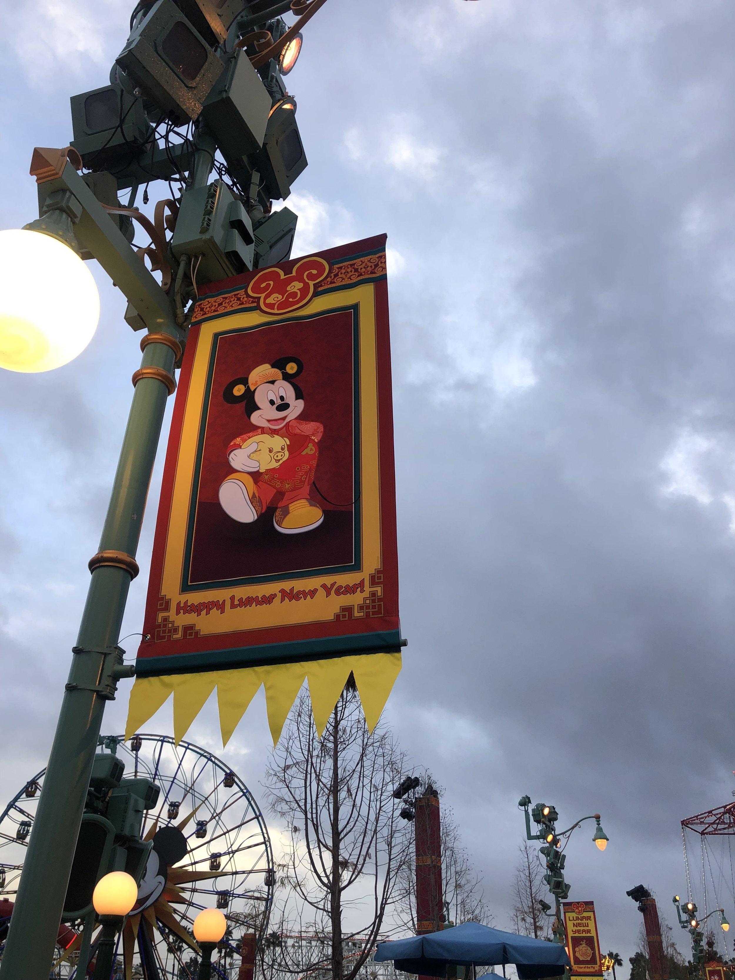 Lunar New Year Mickey Banner