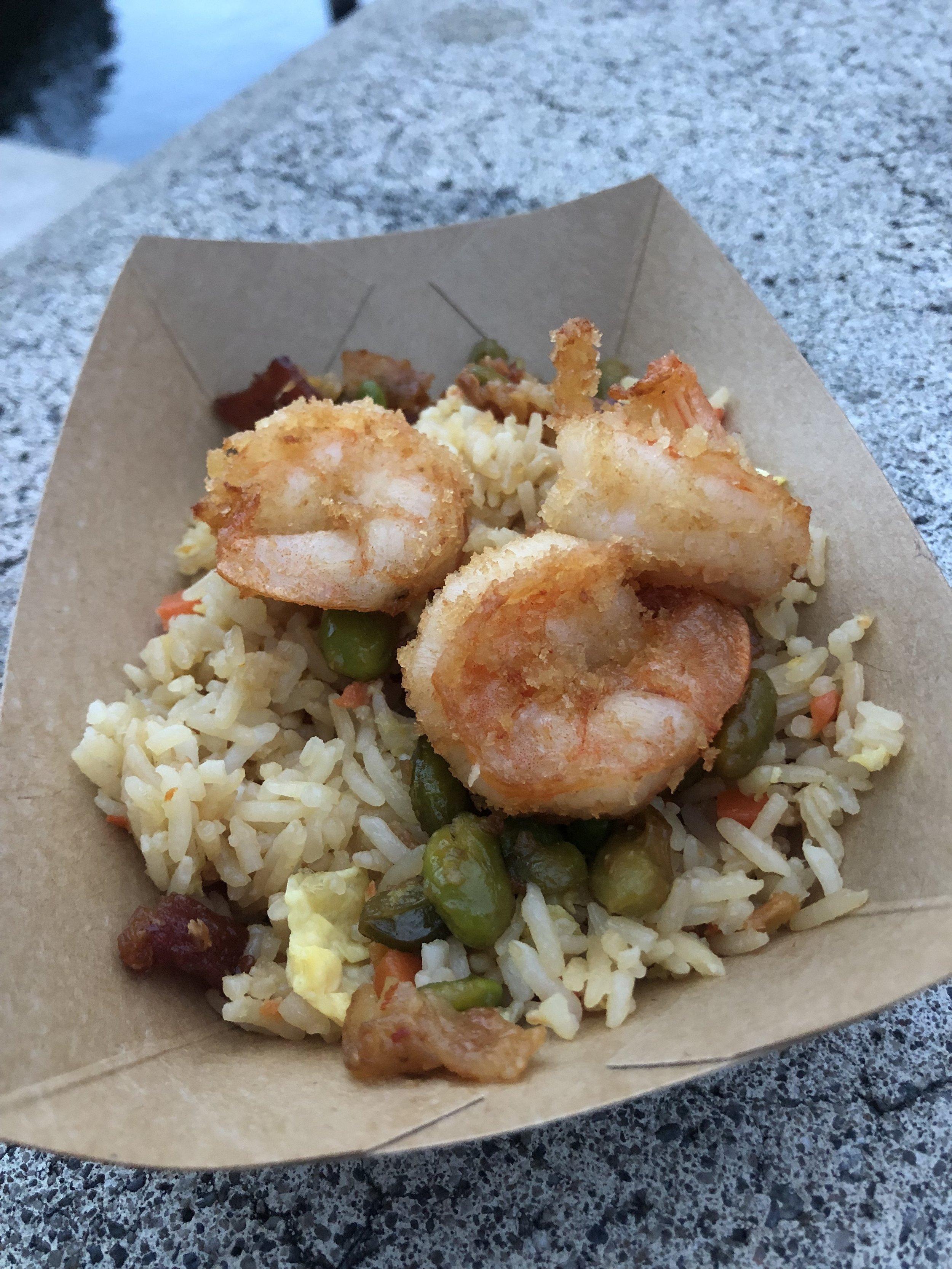 Crispy Shrimp over Fried Rice
