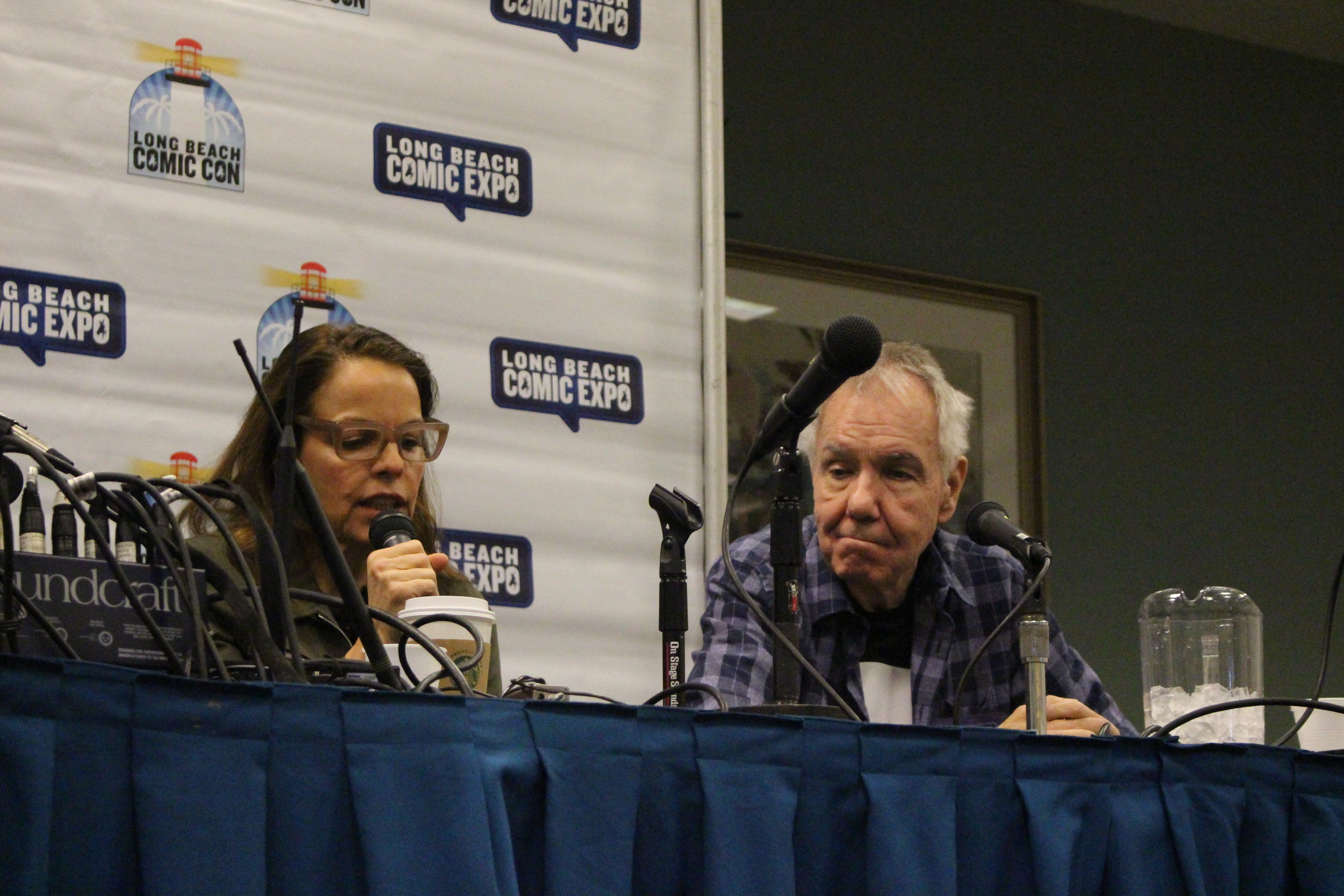 Margaret Stohl and Gerry Conway at the  Captain Marvel : Origins Panel