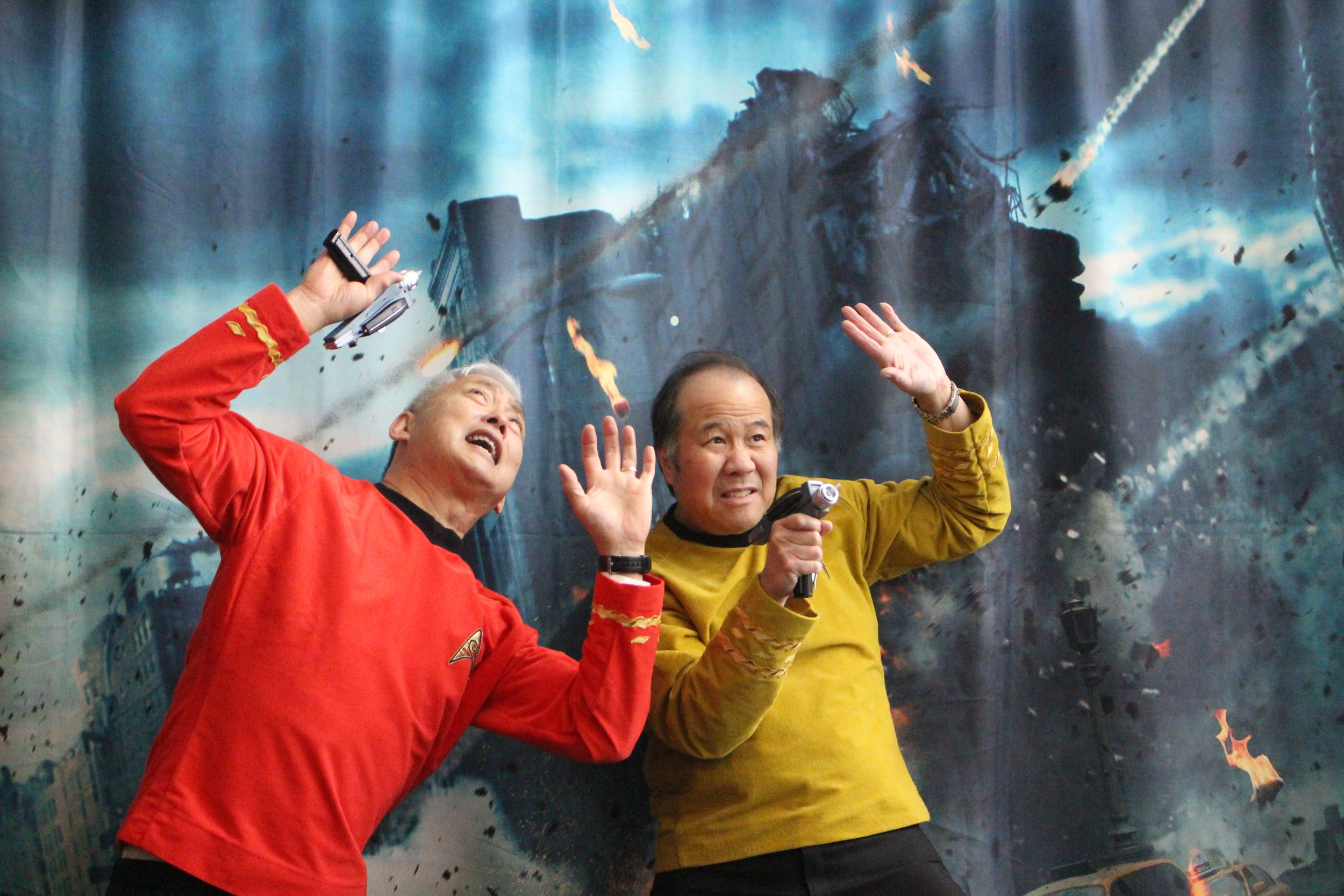 Backdrop being used by some Trekkies.
