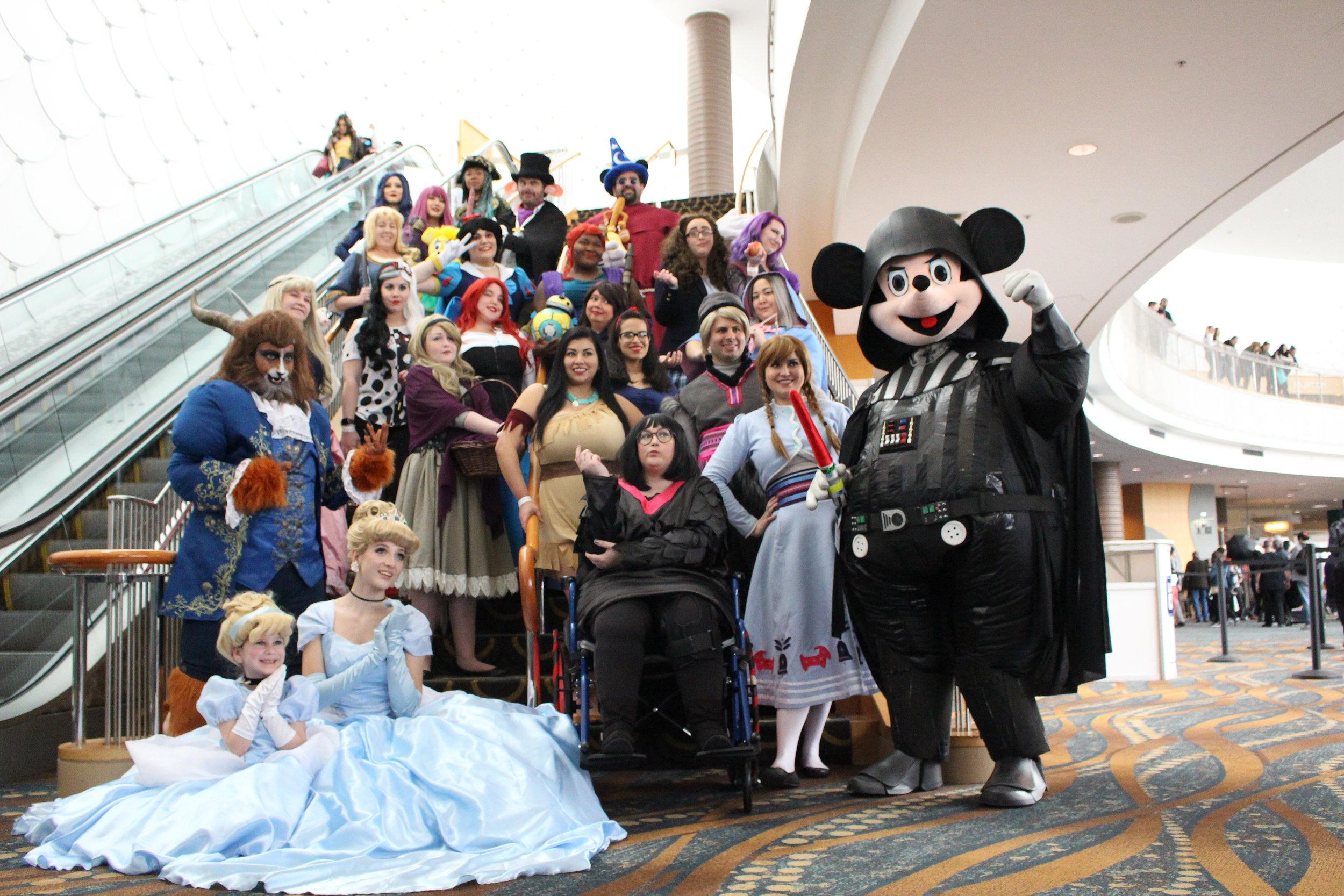 Disney and Pixar Group Photo